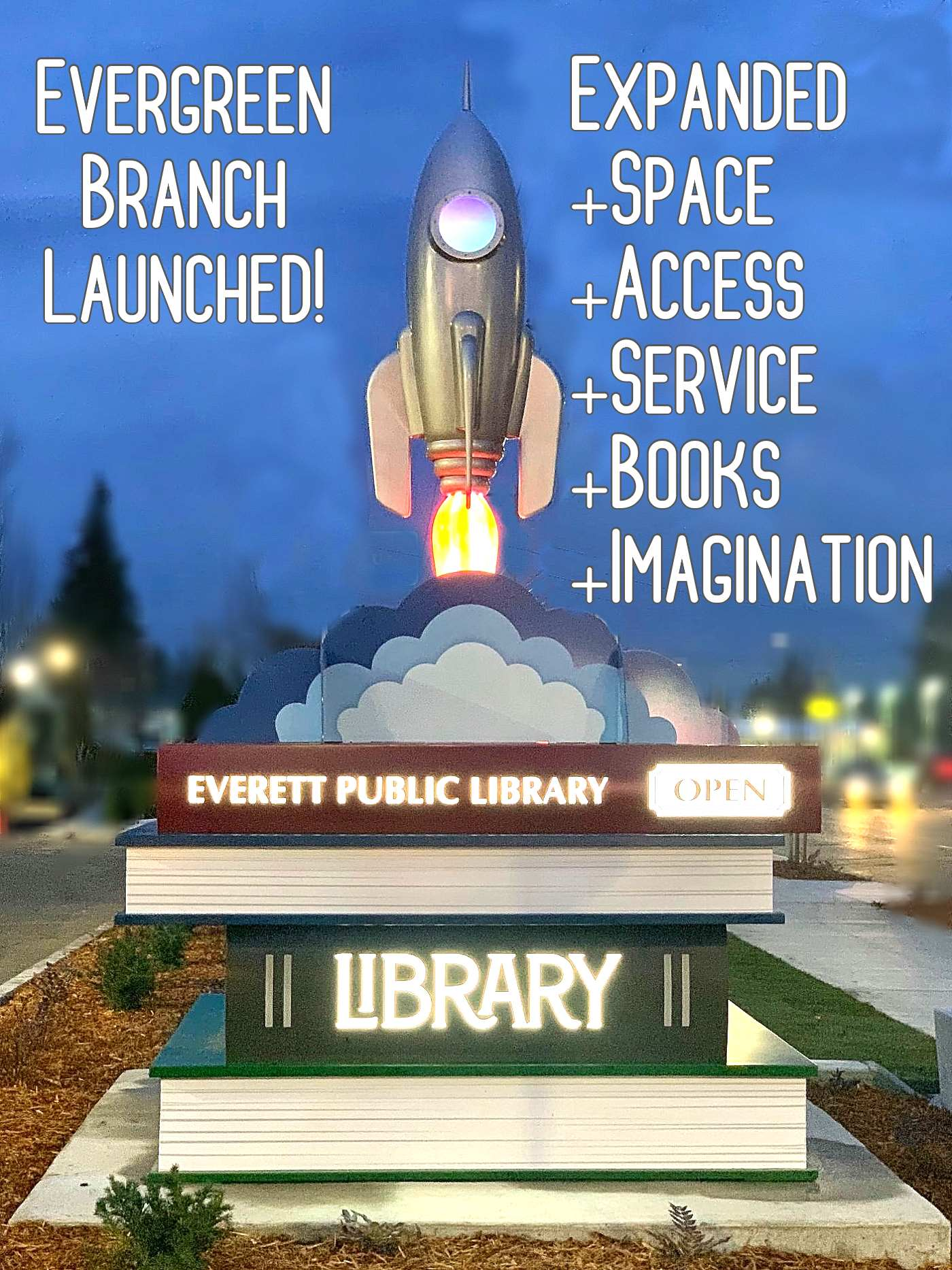 Evergreen Branch has launched with expanded space, access, service, books and imagination.